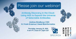 Antibody Discovery in the Cloud: Using NGS to expand the universe of selectable antibodies